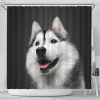 Siberian Husky Print Shower Curtains-Free Shipping - Deruj.com