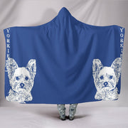 Yorkshire Terrier (Yorkie) Print Hooded Blanket-Free Shipping - Deruj.com