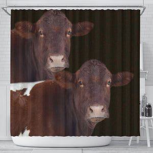 Cute Pinzgauer cattle (Cow) Print Shower Curtain-Free Shipping - Deruj.com