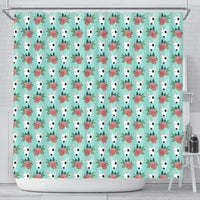 Bull Terrier Dog Floral Print Shower Curtains-Free Shipping - Deruj.com