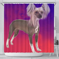 Chinese Crested Dog Print Shower Curtain-Free Shipping - Deruj.com