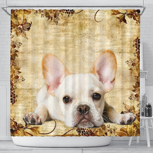 Amazing French Bulldog Print Shower Curtains-Free Shipping - Deruj.com