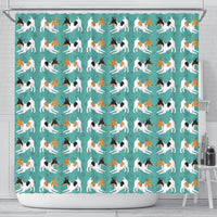 Toy Fox Terrier Dog Hearts Pattern Print Shower Curtains-Free Shipping - Deruj.com