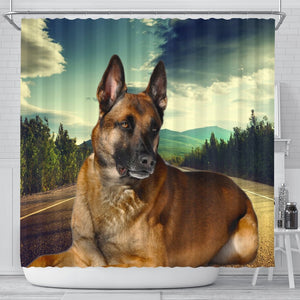Malinois Dog Print Shower Curtains-Free Shipping - Deruj.com
