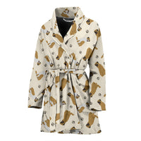 Anatolian Shepherd Dog Pattern Print Women's Bath Robe-Free Shipping - Deruj.com