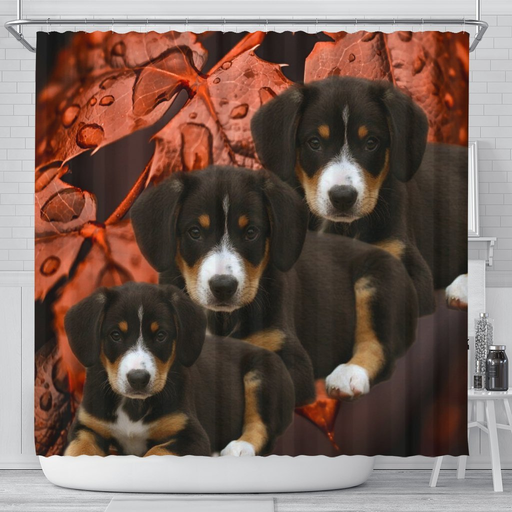 Entlebucher Mountain Dog Print Shower Curtains-Free Shipping - Deruj.com
