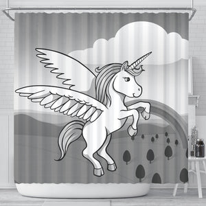 Cute Unicorn Print Shower Curtain-Free Shipping - Deruj.com