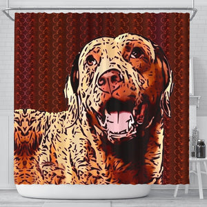 Chesapeake Bay Retriever Dog Print Shower Curtain-Free Shipping - Deruj.com