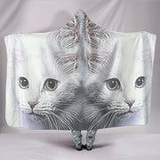 Turkish Angora Cat Print Hooded Blanket-Free Shipping - Deruj.com