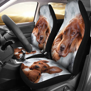 Irish Setter Dog Print Car Seat Covers-Free Shipping - Deruj.com