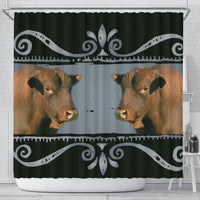Amazing Senepol Cattle (Cow) Print Shower Curtain-Free Shipping - Deruj.com