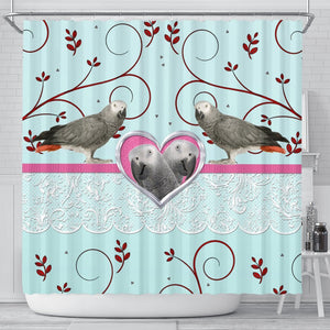 African grey parrot Print Shower Curtain-Free Shipping - Deruj.com