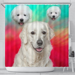 Kuvasz Dog Print Shower Curtain-Free Shipping - Deruj.com