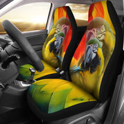 Blue and Yellow Macaw Print Car Seat Covers-Free Shipping - Deruj.com