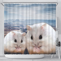 Cute Chinese Hamster Print Shower Curtains-Free Shipping - Deruj.com