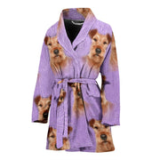Irish Terrier Dog Patterns Print Women's Bath Robe-Free Shipping - Deruj.com