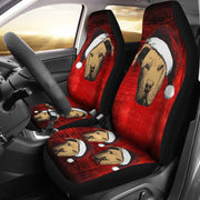 Pit Bull Terrier On Red Print Car Seat Covers-Free Shipping - Deruj.com