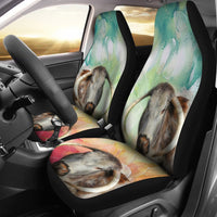 English Longhorn Cattle (Cow) Painted Art Print Car Seat Covers-Free Shipping - Deruj.com