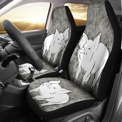 Middle White Pig Print Car Seat Covers-Free Shipping - Deruj.com
