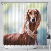 Awesome Saluki Dog Print Shower Curtains-Free Shipping - Deruj.com