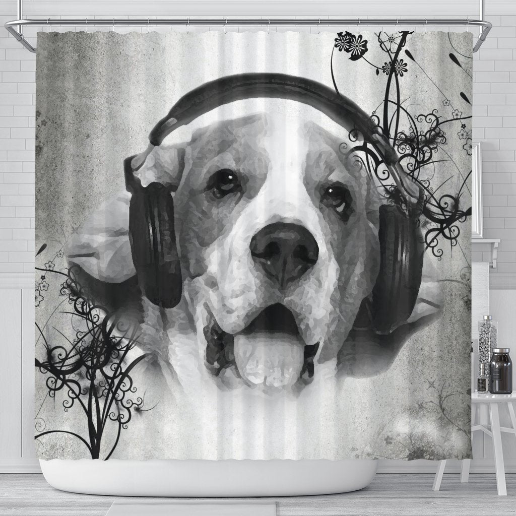 Lovely Beagle Print Shower Curtains-Free Shipping - Deruj.com