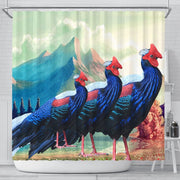 Hoogerwer Pheasant Bird Print Shower Curtains-Free Shipping - Deruj.com