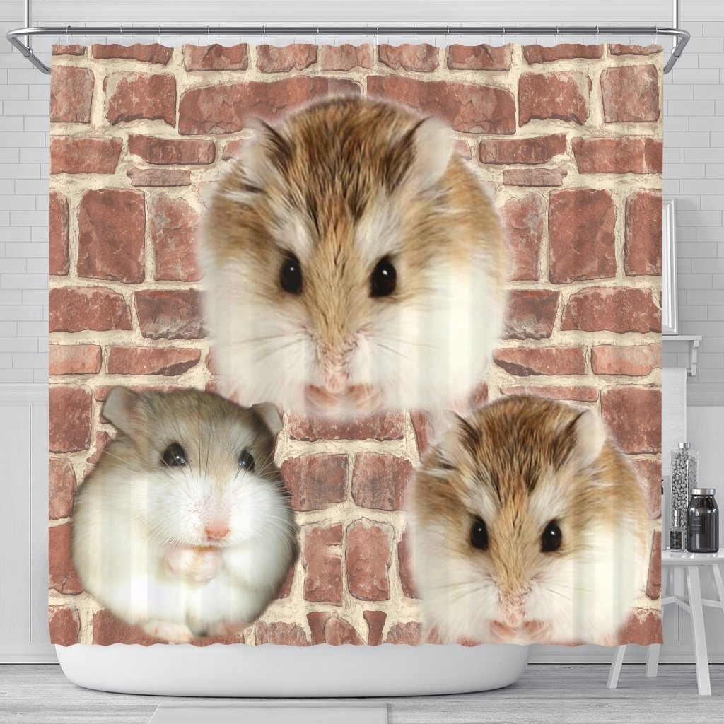 Lovely Roborovski Hamster Print Shower Curtains-Free Shipping - Deruj.com