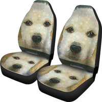 Golden Retriever Puppy Art Print Car Seat Covers-Free Shipping - Deruj.com