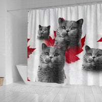 British Shorthair Print Shower Curtains-Free Shipping - Deruj.com