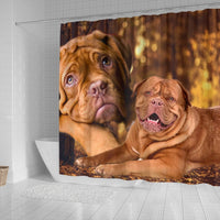 Dogue De Bordeaux Print Shower Curtains-Free Shipping - Deruj.com