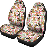 Yorkie Dog Floral Print Car Seat Covers-Free Shipping - Deruj.com