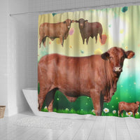 Amazing Santa Gertrudis cattle (Cow) Print Shower Curtain-Free Shipping - Deruj.com