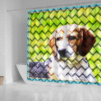 Lovely Beagle Dog Art Print Shower Curtains-Free Shipping - Deruj.com