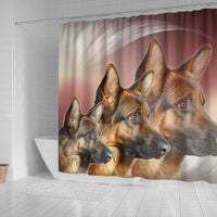Amazing German Shepherd Print Shower Curtains-Free Shipping - Deruj.com