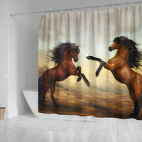 Wild Horse Art Print Shower Curtain-Free Shipping - Deruj.com