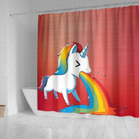 Rainbow Unicorn Print Shower Curtain-Free Shipping - Deruj.com