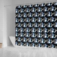 Poodle Dog Pattern Print Shower Curtains-Free Shipping - Deruj.com