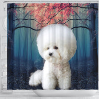 Bichon Frise Print Shower Curtains-Free Shipping - Deruj.com