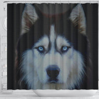 Amazing Siberian Husky Dog Print Shower Curtains-Free Shipping - Deruj.com