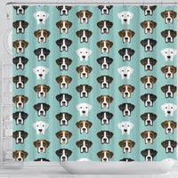 Boxer Dog Faces Print Shower Curtain-Free Shipping - Deruj.com