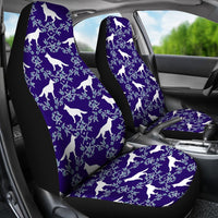 German Shepherd Dog Floral Print Car Seat Covers-Free Shipping - Deruj.com