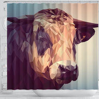 Cattle Vector Art Print Shower Curtains-Free Shipping - Deruj.com