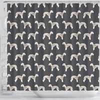 Bedlington Terrier Dog Pattern Print Shower Curtains-Free Shipping - Deruj.com