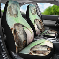 English Longhorn Cattle (Cow) Print Car Seat Covers-Free Shipping - Deruj.com