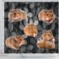 Djungarian Hamster On Black Print Shower Curtains-Free Shipping - Deruj.com