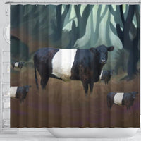 Belted Galloway Cattle (Cow) Print Shower Curtain-Free Shipping - Deruj.com