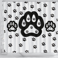 Dog Paws Print Shower Curtain-Free Shipping - Deruj.com