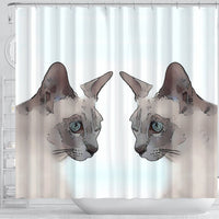 Tonkinese cat Print Shower Curtain-Free Shipping - Deruj.com