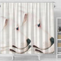 Dogo Argentino Dog Print Shower Curtain-Free Shipping - Deruj.com