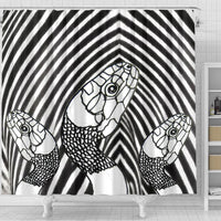 Black&White Snake Print Shower Curtain-Free Shipping - Deruj.com